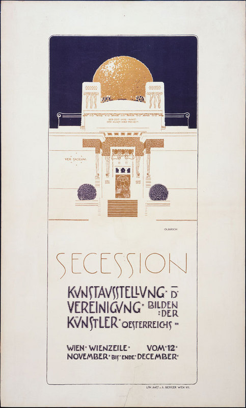 Joseph Maria Olbrich, Secession II, 1898. Poster. Color lithograph, 58 x 51 cm. Acquired by exchange. 329.1977. The Museum of Modern Art, New York.