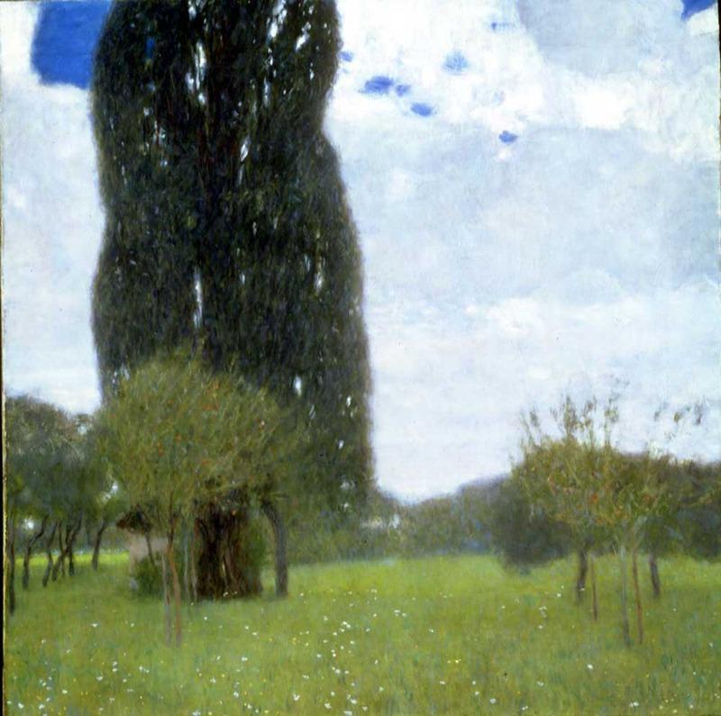 Gustav Klimt,The Tall Poplar Tree I, 1900 (SAAL V)