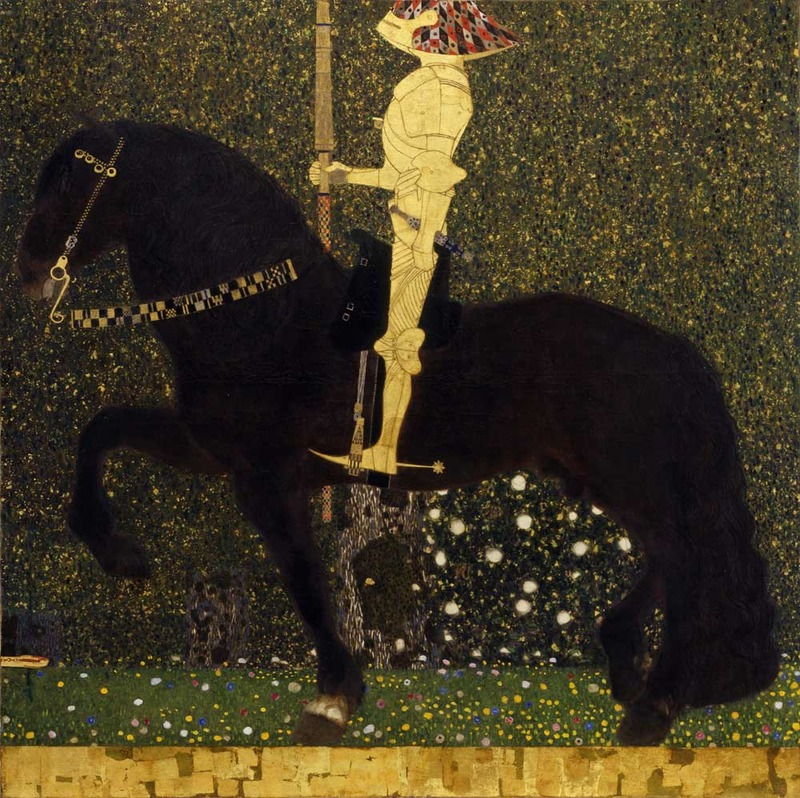 Gustav Klimt, Life is a Struggle (The Golden Knight), 1903 (SAAL III)