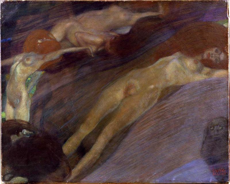 Gustav Klimt, Moving Water, 1898 (SAAL III)