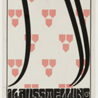 Alfred Roller, Secession XVI, 1902. Poster. Color lithograph, 95 x 32 cm. Gift of Jo Carole and Robert S. Lauder. 149.2010. The Museum of Modern Art, New York.