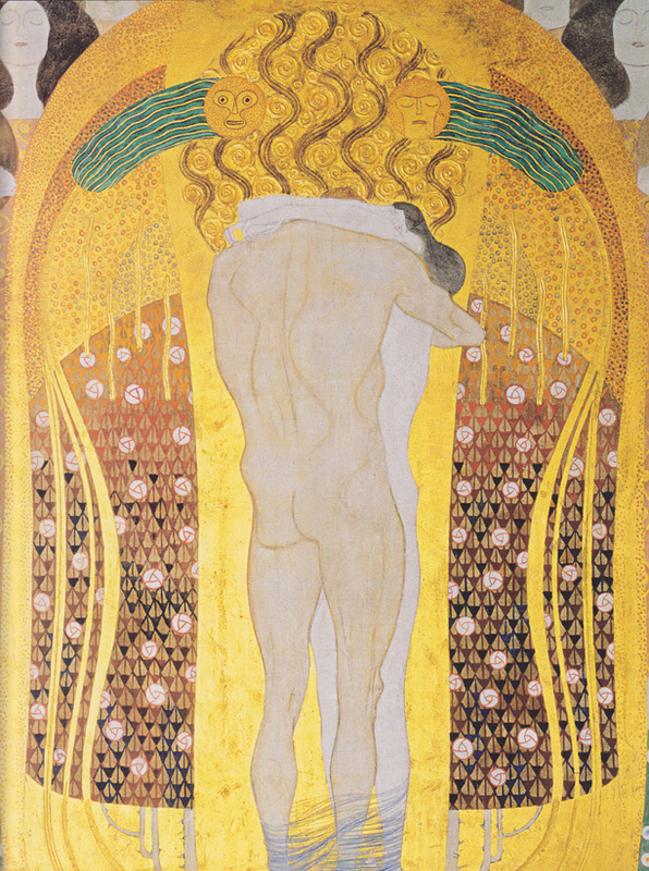 Gustav Klimt, Beethoven Frieze: This Kiss to the Whole World (Detail), 1902 (SAAL III)