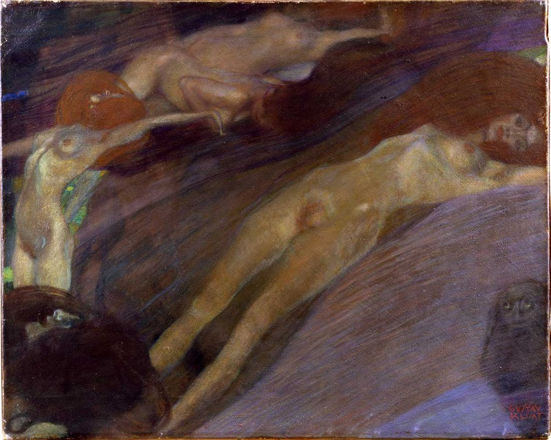 Gustav Klimt, Moving Water, 1898 (SAAL III)
