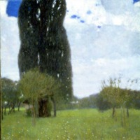 Gustav Klimt,The Tall Poplar Tree I, 1900 (SAAL V)