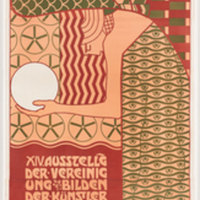 Alfred Roller, Secession XIV (Beethoven). Poster. Color lithograph, 230 x 80 cm. Gift of Joseph H. Heil, by exchange. 148.2010. The Museum of Modern Art, New York.