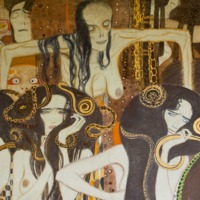 Gustav Klimt, Beethoven Frieze: This Kiss to the Whole World (Detail: The Hostile Forces), 1902 (SAAL III)