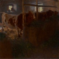 Gustav Klimt, Cows in a Stall, 1901 (SAAL V)